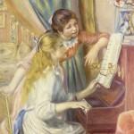 Junge Mädchen am Klavier ?