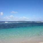 Ansicht der Insel La Désirade von Guadeloupe, Anse des Salines ?
