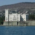 Schloss Miramare vom Meer ?