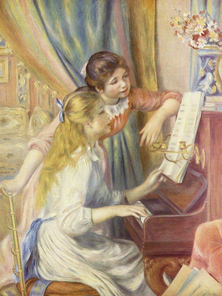 Renoir, Junge Mädchen am Klavier